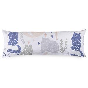 4Home Povlak na Relaxační polštář Náhradní manžel Nordic Cats, 50 x 150 cm