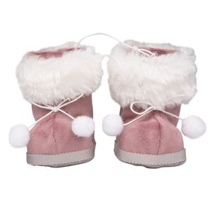 Altom Sada vánočních ozdob Sametové botičky 10 x 8 cm, růžová