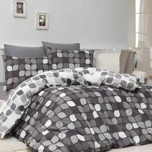 Bavlněné povlečení Bunku V1 grey, 140 x 200 cm, 70 x 90 cm
