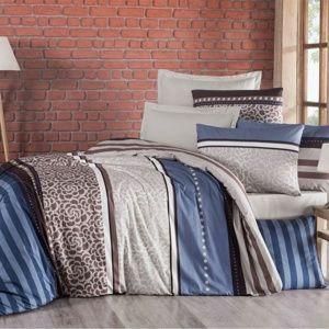 Bavlněné povlečení Delux Stripe modrá, 140 x 220 cm, 70 x 90 cm