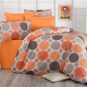 Bavlněné povlečení Delux Targets oranžová, 200 x 200 cm, 2 ks 70 x 90 cm