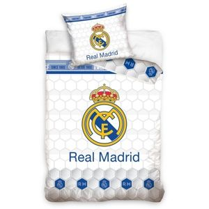 Bavlněné povlečení Real Madrid Colmenas, 140 x 200 cm, 70 x 90 cm
