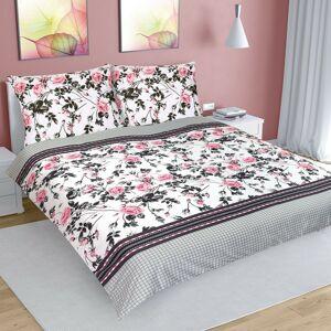 Bavlněné povlečení Růže šípková, 220 x 200 cm, 2 ks 70 x 90 cm