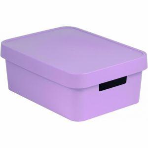 Curver Úložný box s víkem INFINITY 11 l, fialová