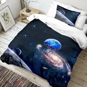 Dětské bavlněné povlečení Vesmír 3D, 140 x 200 cm, 70 x 90 cm