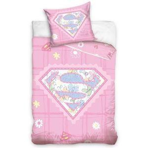 Dětské bavlněné povlečení do postýlky Little Supergirl, 100 x 135 cm, 40 x 60 cm