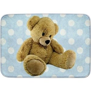 Dětský koberec Ultra Soft Medvídek modrá, 130 x 180 cm