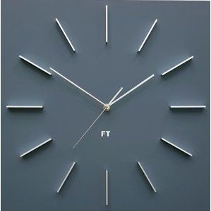 Future Time FT1010GY Square grey Designové nástěnné hodiny, 40 cm