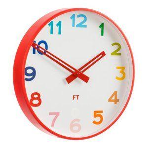 Future Time FT5010RD Rainbow red Dětské nástěnné hodiny, pr. 30 cm
