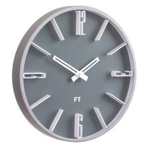 Future Time FT6010GY Numbers Designové nástěnné hodiny, pr. 30 cm