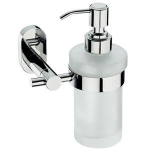 Kela Nerezový nástěnný dávkovač mýdla s držákem Lucido 250 ml