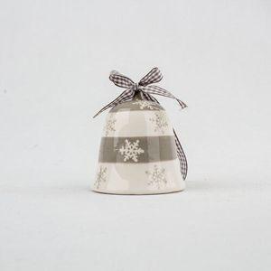 Keramický zvoneček 8 x 8,5 cm, šedá