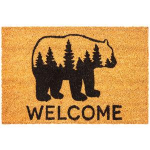 Kokosová rohožka Welcome Bear, 40 x 70 cm