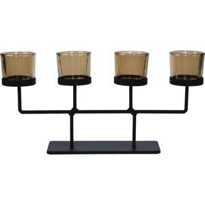 Koopman Svícen na čajové svíčky Valderas, 37 x 18,5 cm