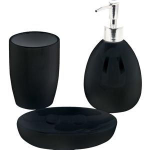 Koupelnová sada Valmy 3 ks, černá
