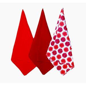 Kuchyňská utěrka Sophia červená, 45 x 70 cm, sada 3 ks