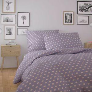 Kvalitex Bavlněné povlečení Nordic Olava fialová, 140 x 220 cm, 70 x 90 cm