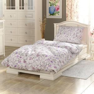 Kvalitex Bavlněné povlečení Provence Beáta fialová, 240 x 200 cm, 2 ks 70 x 90 cm