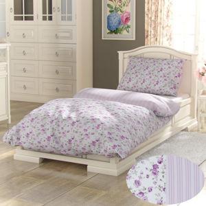 Kvalitex Bavlněné povlečení Provence Viento růžová, 200 x 200 cm, 2 ks 70 x 90 cm