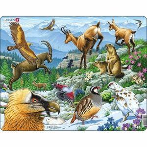Larsen Puzzle Zvířata v Alpách, 55 dílků