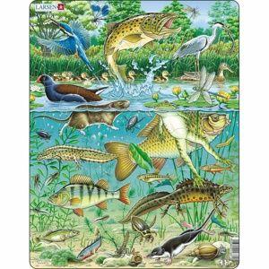 Larsen Puzzle Zvířata v rybníku, 50 dílků