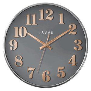 Nástěnné hodiny Lavvu Home Grey LCT1161 šedá, pr. 32 cm