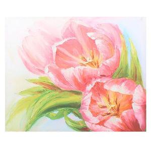 Obraz na plátně Pink tulips, 56 × 46 × 2 cm