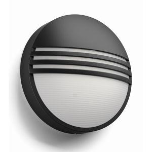 Philips 17296/30/16 Yarrow Venkovní nástěnné LED svítidlo 21 cm, černá