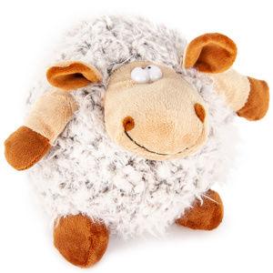Plyšová ovce Hnědá koule, 20 cm