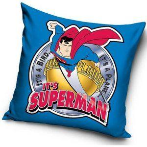 Polštářek Superman blue, 40 x 40 cm