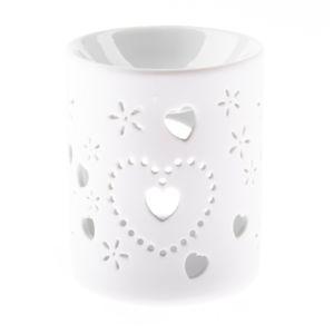 Porcelánová aromalampa Hearts, 8,5 x 10 cm