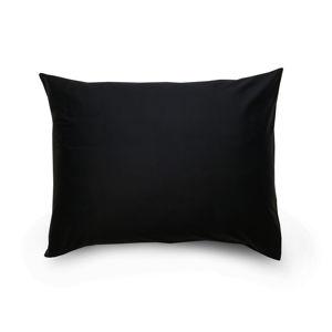 Povlak na polštář satén černá / světle fialová, 70 x 90 cm