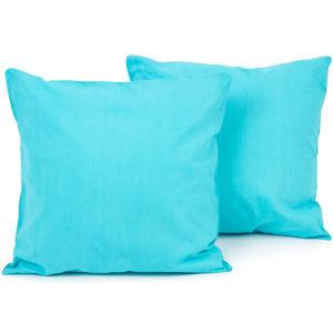 Povlak na polštářek Doubleface UNI modrá, 2 ks 40 x 40 cm