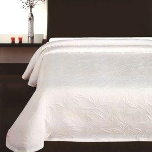 Přehoz na postel Floral bílá, 240 x 260 cm
