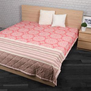 Přehoz na postel Morbido lososová, 240 x 200 cm