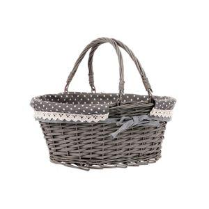 Proutěný košík Belize, šedá