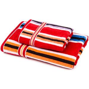 Sada Stripes Ema ručník a osuška, 70 x 140 cm, 50 x 100 cm