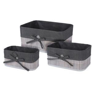 Sada dekoračních košíků Saskatoon 3 ks, šedá
