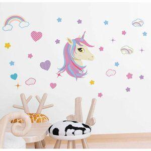 Samolepicí dekorace Unicorn, 122 x 70 cm