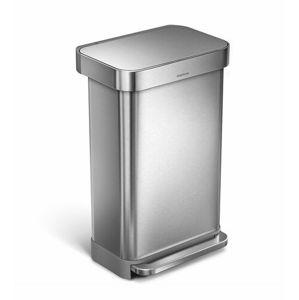 Simplehuman Pedálový odpadkový koš 45 l, stříbrná