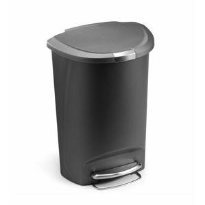 Simplehuman Pedálový odpadkový koš 50 l, šedá