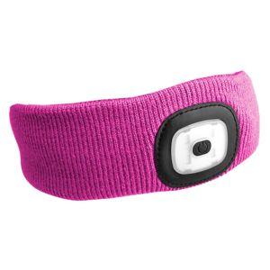 Sixtol Čelenka s čelovkou 45 lm, USB, uni, růžová