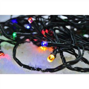 Solight Světelný venkovní řetěz 100 LED s časovačem, 10 m, barevná