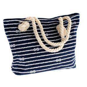 Textilní taška se zipem Nautical, modrá