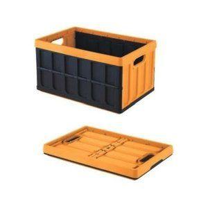 Tontarelli Rozkládací přepravka s víkem 46 l, černá/oranžová
