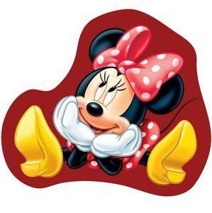 Tvarovaný polštářek Minnie baby, 31 x 24 cm