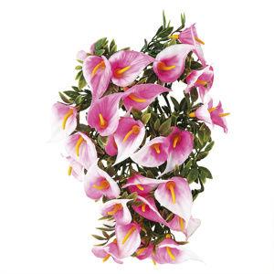 Umělá květina Kaly růžová 2 ks
