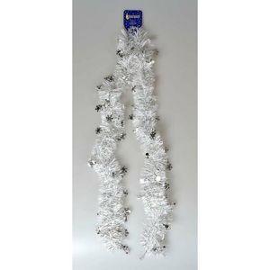 Vánoční řetěz s vločkami bílá, 200 cm