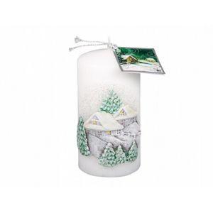 Vánoční svíčka Chaloupka, bílá