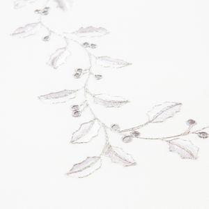 Vánoční ubrus Cesmína bílá, pr. 35 cm